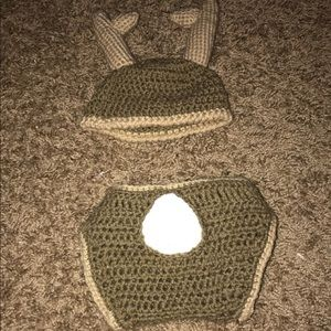 Other - Newborn deer hat and diaper cover